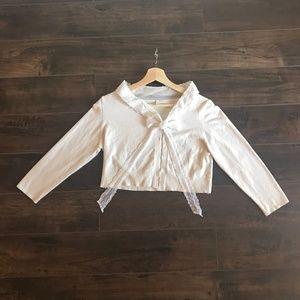 Anthropologie Moth Shrug Tie Neck Bolero Jacket